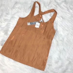 NWT 14th & Union shimmery back detail tank Small